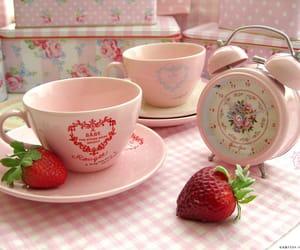 pink, strawberry, and kawaii image