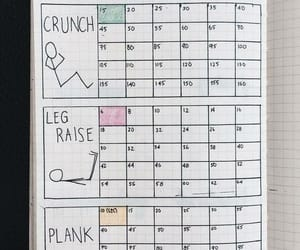 abs, inspiration, and bullet journal image