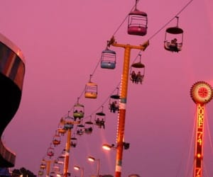 pink, sky, and fun image