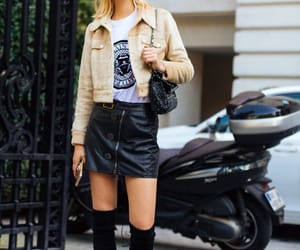 street style, knee high boots, and model off duty image