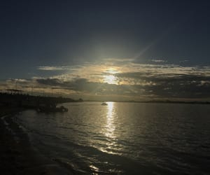 asuncion, sand, and clouds image