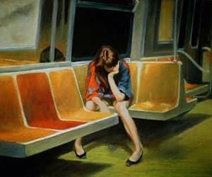 alone, girl, and hug image