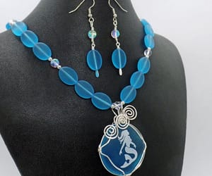 etsy, pendant necklace, and sea glass jewelry image