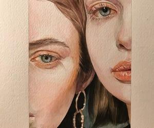 art, девушки, and акварель image