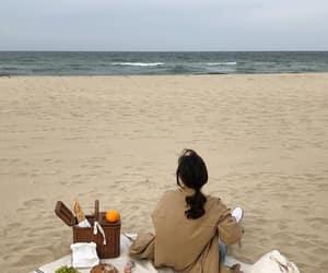 aesthetic, beach, and korean image