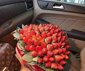 strawberry, luxury, and car image