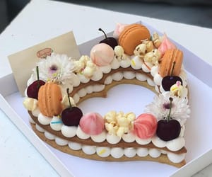 cake, cherry, and delicious image