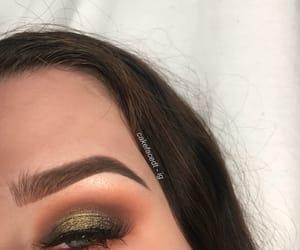 eyeliner, glow, and eyeshadow palette image