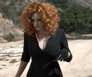 actress, Christina Hendricks, and landscape image