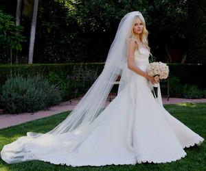 Avril Lavigne, dress, and wedding image