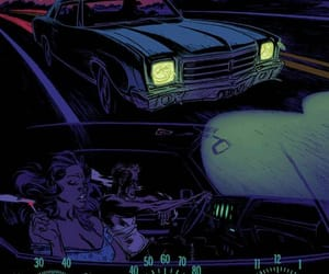 night, car, and drive image