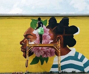 art, nigga, and yellow image