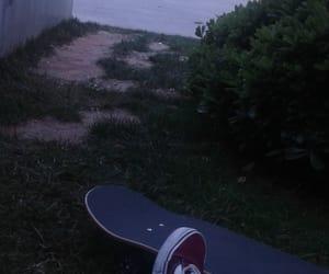 board, girl, and skateboard image