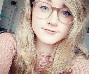 blonde, girl, and glasses image