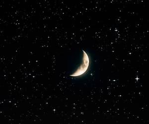 gif, moon, and stars image