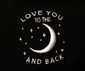 moon, love, and stars image