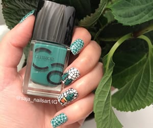 cactus, stamping, and nailsdesign image