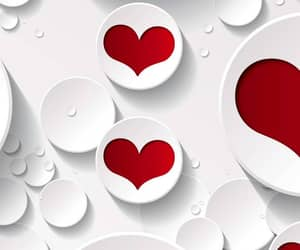 red, wallpapers, and red hearts image