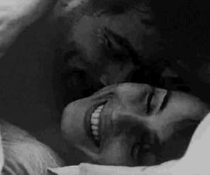 black and white, couple, and gif image