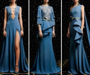 blue, blue dress, and blue dresses image