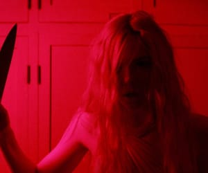 red, aesthetic, and Elle Fanning image