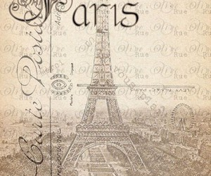 paris, vintage, and eiffel tower image