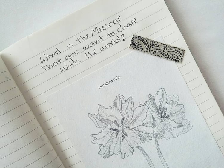 article, books, and journaling image