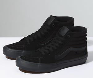 black, black sneakers, and high tops image
