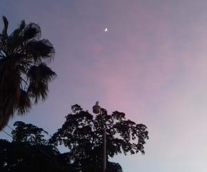 aesthetic, lila, and moon image