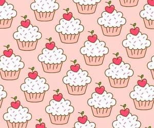 wallpaper, cupcake, and pattern image