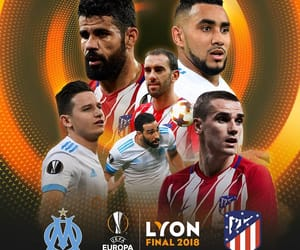 football, atletico madrid, and olympique de marseille image