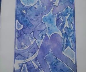 art and women grabado violet image