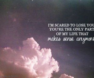 clouds, quotes, and sad image