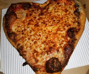 pizza, Valentine's Day, and cheese pizza image