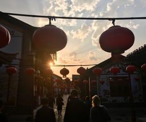 blue, china, and chinese image