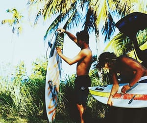 fun, summer, and surfing image