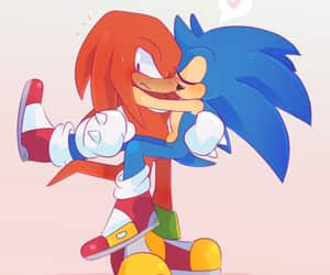 Sonic the hedgehog, knuckles the echidna, and sonuckles image