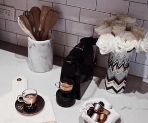 coffee, espresso, and flowers image