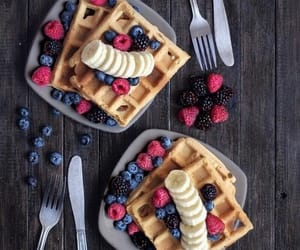bananas, blueberries, and breakfast image