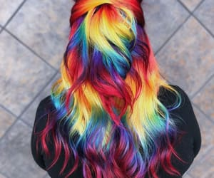 amazing hair, colourful, and fashion image