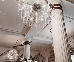 architecture, chandelier, and decor image