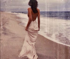 beach, dress, and sea image