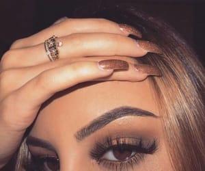 makeup, nails, and fashion image