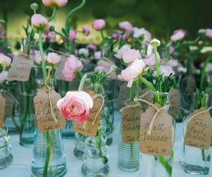 flowers, mariage, and table setting image