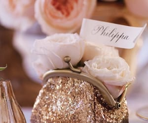 flowers, marque place, and mariage image