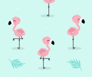 blue, flamingo, and pattern image