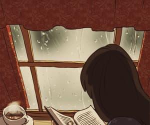 book, rain, and gif image