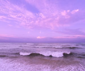 aesthetic, ocean, and pink image