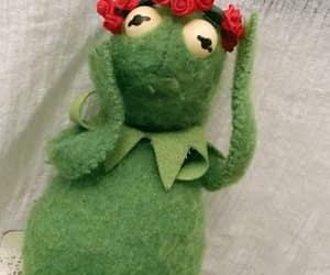 aesthetic, kermit, and flowers image
