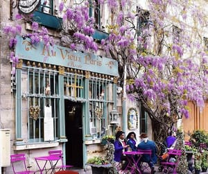 paris, cafe, and city image